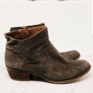 Lucky Brand Brown Suede Booties Suze 8.5